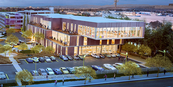 Rendering of the Playa Jefferson campus at 12777 West Jefferson Boulevard (credit: Playa Jefferson)