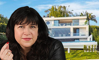 Erika Mitchell, known by her pen name E. L. James, and her new home at 8800 Appian Way