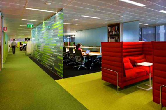 Companies are moving away from a traditional office lay out