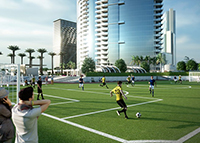 Worldcenter soccer field rendering feat