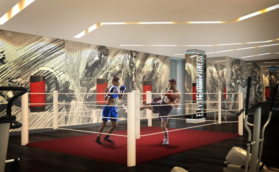 A rendering of Paramount's boxing studio