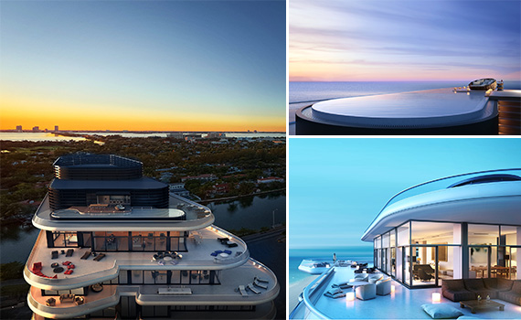 Renderings of the penthouse units at Faena House