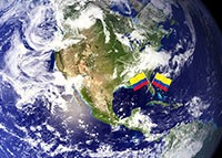 NASA satellite and colombia
