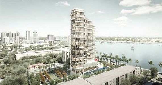 Rendering of the tower at 1515 South Flagler Drive