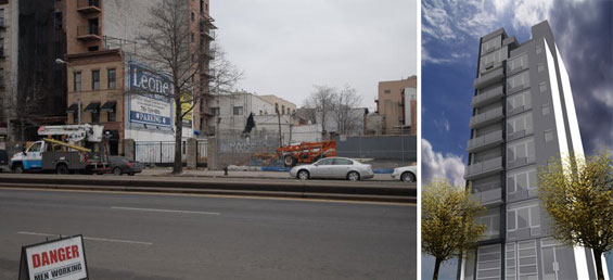 From left: 683 Third Avenue and a rendering of Greenwood on 4th