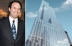 From left: Extell President Gary Barnett and One57