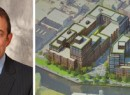 From left: Lightstone Group Chairman and CEO David Lichtenstein and a rendering of the project (credit: Curbed)