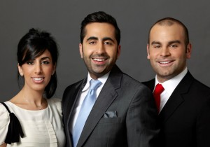 Platinum Properties cofounders, from left: Dezireh Eyn, Khashy Eyn and Daniel Hedaya