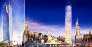 A rendering of 3 Hudson Boulevard (source: FXFOWLE)