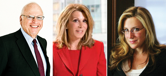 Elliman Chairman Howard Lorber, CEO Dottie Herman and Dolly Lenz