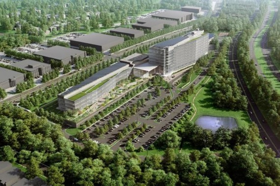 Rendering of LG Electronics' proposed New Jersey headquarters
