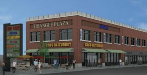 A rendering of Triangle Plaza (Credit: Triangle Equities)