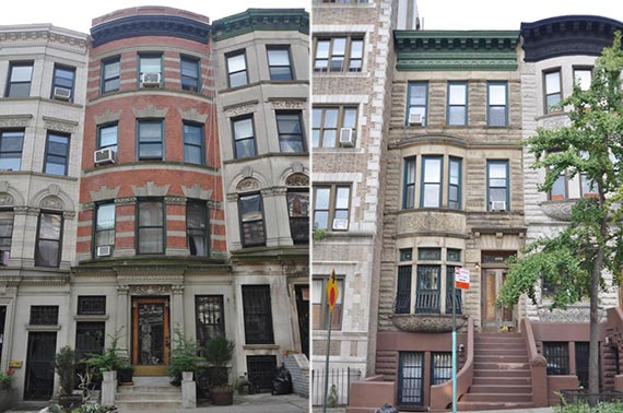 From left: 460 West 141st Street and 408 Convent Avenue