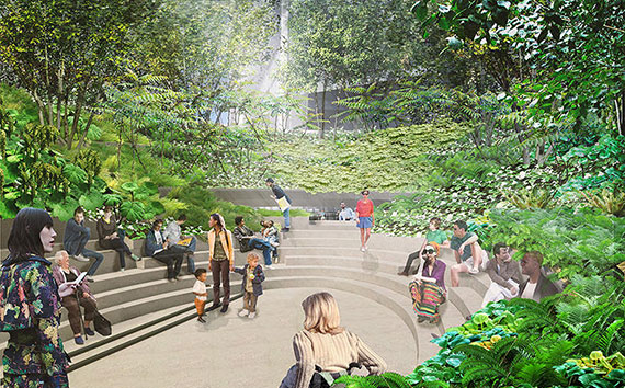 A rendering of the final phase of the High Line