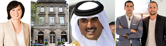 From left: Carrie Chiang, 19 E. 64th St., Sheikh Tamim bin Hamad Al Thani, Oren Alexander and Tal Alexander