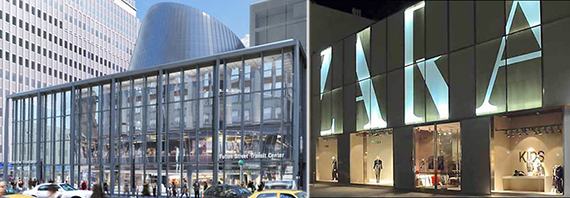 Rendering of the newly revamped Fulton Transit Center and Zara's 666 Fifth Avenue outpost