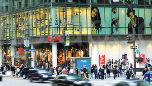H&M's largest NYC store is located at Herald Center.