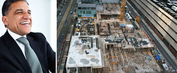 Joseph Moinian and 605 West 42nd Street (Site image credit: Curbed)