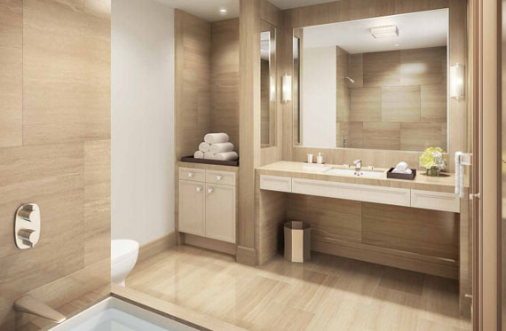 Another bathroom rendering at 33 East 74th Street