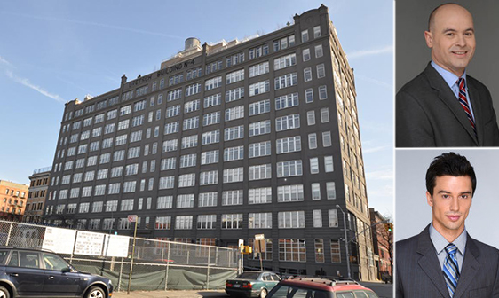 A penthouse unit sold at the Gretsch Building at 60 Broadway in Williamsburg for $4.2 million (Photo credit: PropertyShark)