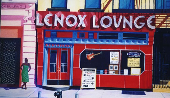 Painting of Lenox Lounge's former spot at 288 Lenox Avenue