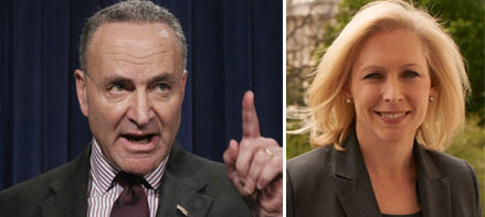 Charles Schumer and Kirsten Gillibrand