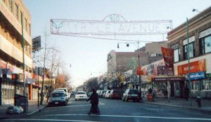 A view of the Myrtle Avenue Business Improvement District at the Ridgewood/ Bushwick border