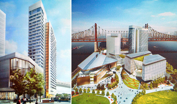 Renderings of the residential tower planned for Cornell's NYC Tech campus