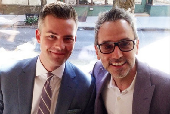 From left: Ryan Serhant and Leonard Steinberg