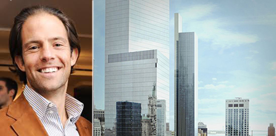 From left: Michael Shvo and a rendering of 22 Thames Street
