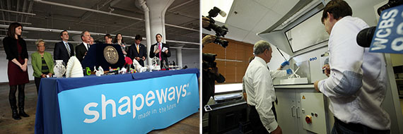 "Shapeways ""Factory of the Future"" launch in Queens"