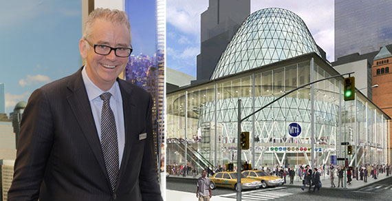 From left: David Ruddick and Fulton Transit Center