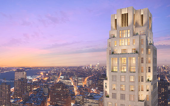 A rendering of 30 Park Place (Credit: Archpartners)