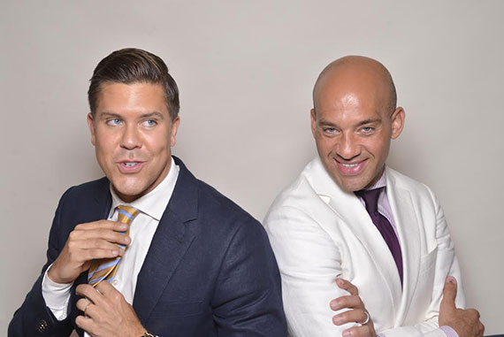 From left: Fredrik Eklund and John Gomes (Credit: Chance Yeh)