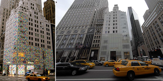 Louis Vuitton's flagship store at 1 East 57th Street