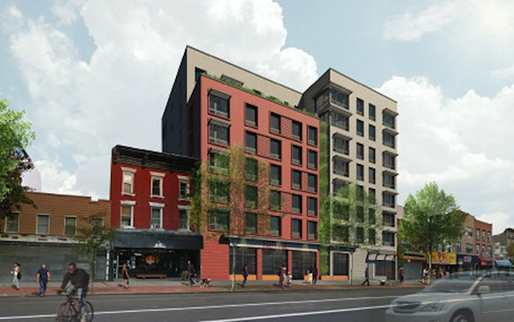 Rendering for a 51-unit project at 695 Grand Street in East Williamsburg