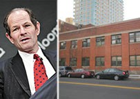 From left: Eliot Spitzer and 420 Kent Avenue