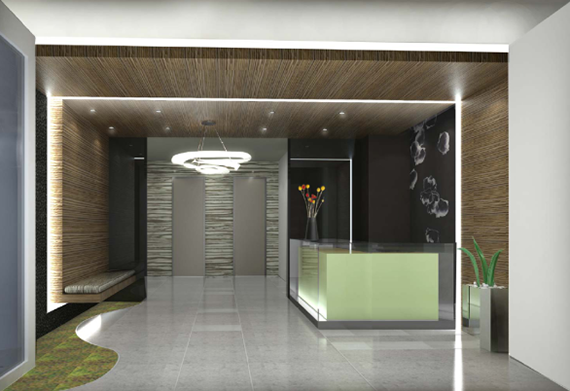 Feng shui lobby at the Vista at 44-15 Purves Street