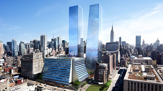 Rendering of Brookfield Properties' Manhattan West