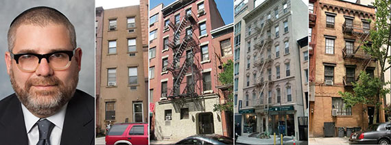 From left: Yona Edelkopf, 216 East 13th Street, 223 East 21st Street, 246-2 East 53rd Street and 337 East 54th Street