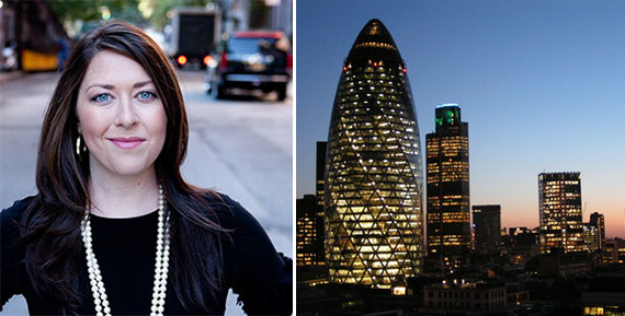 Lindsey Owen and the Central London skyline
