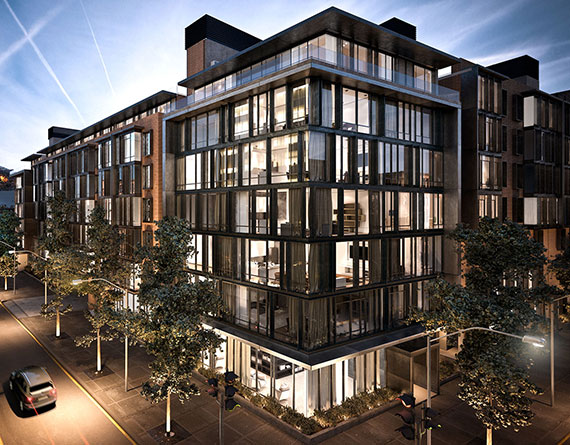 Rendering of the Oosten at 429 Kent Avenue in Williamsburg.