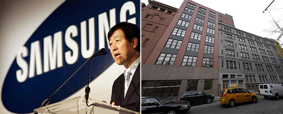 From left: Samsung CEO Choi Gee Sung and 123 West 18th Street