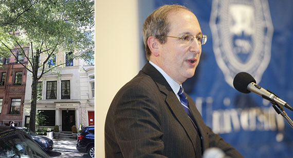 From left: 12 East 77th Street and Brandeis University President Fred Lawrence