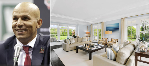 From left, Jason Kidd, his Hamptons home