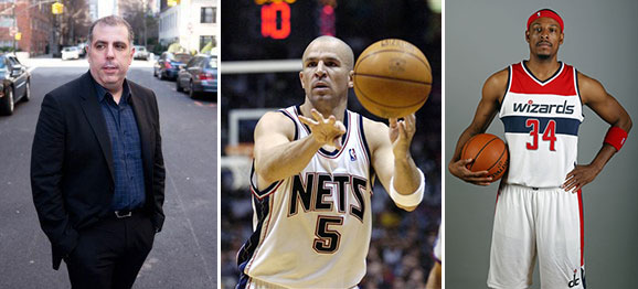 From left: Andrew Azoulay, Jason Kidd, Paul Pierce