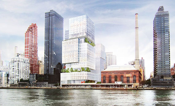 Rendering for proposed medical facility on the Upper East Side