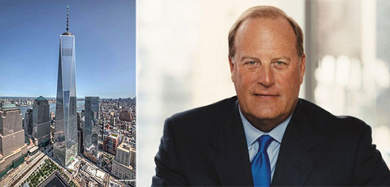 From left: One World Trade Center and Condeé Nast CEO Charles Townsend