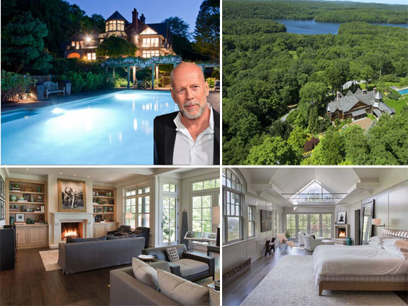 Bruce Willis and his NY countryside home