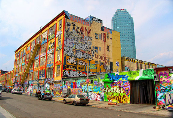 The former 5Pointz in Long Island City